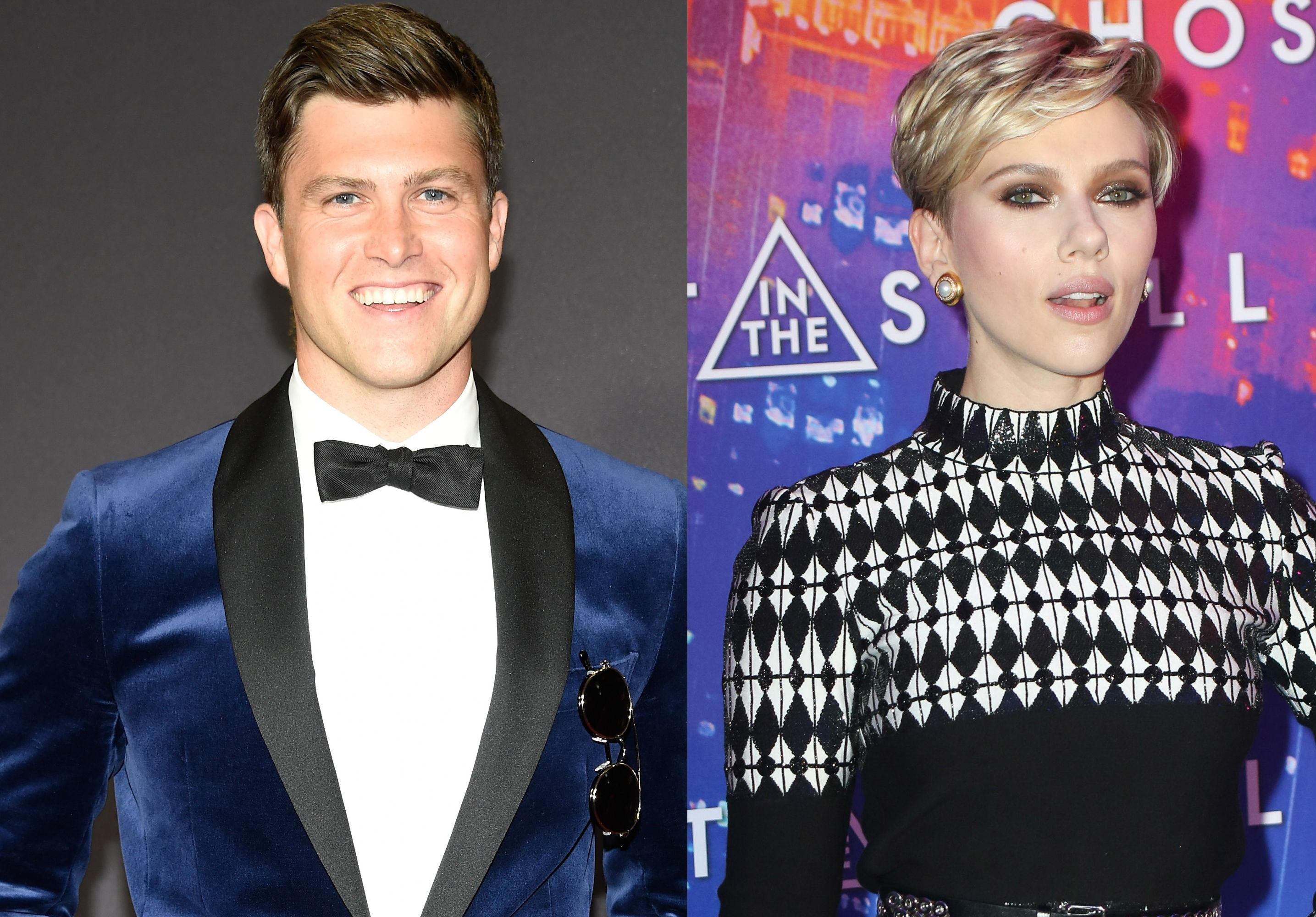 Colin Jost Gushes Girlfriend Scarlett Johansson After Divorce Emmys hero