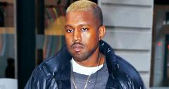 Kanye West out and about in Soho with bleached hair (fixed color profile)