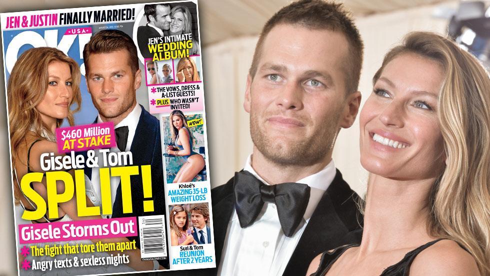 Gisele tom brady split divorce marriage problems