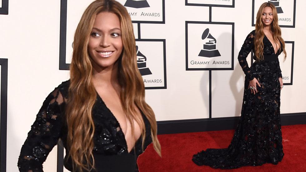 Beyonce 2015 grammy arrivals