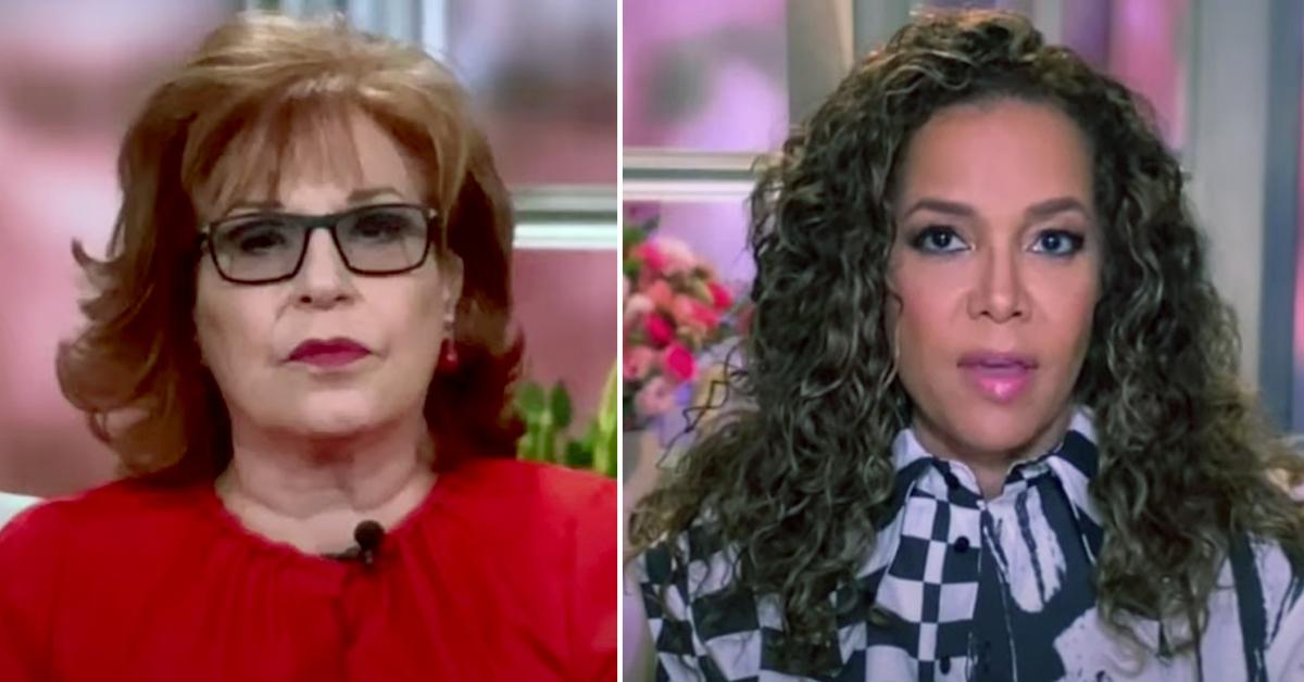 the view segment halt joy behar sunny hostin technical difficulties watch