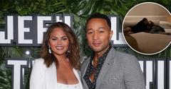 Chrissy Teigen & John Legend Get Comfy Inside Kris Jenner's Bed