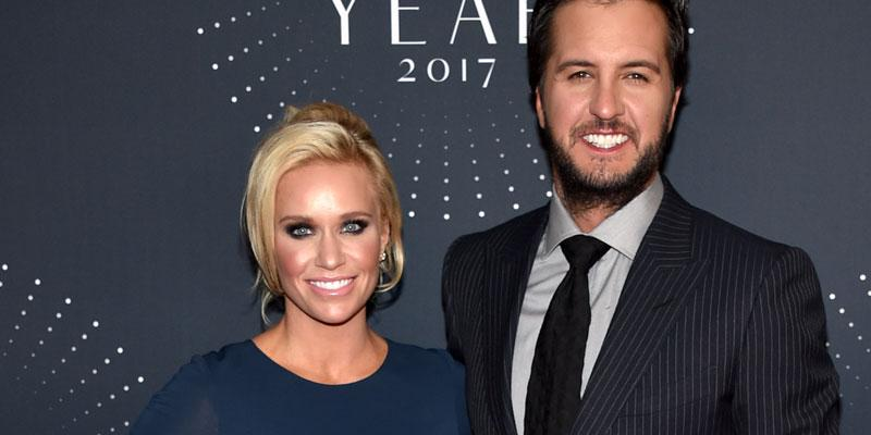 Luke Bryan and wife at the CMT awards