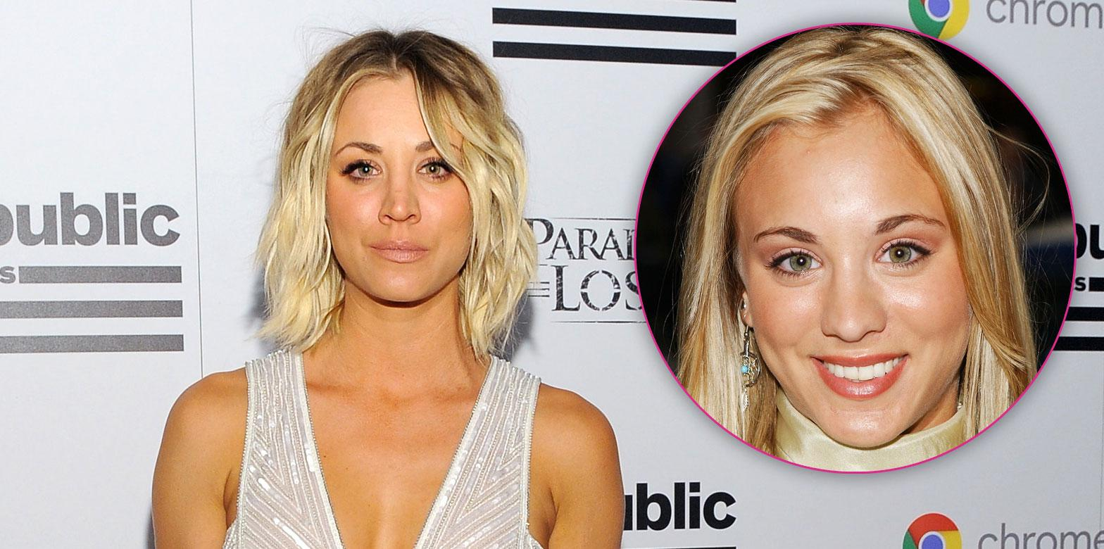 Kaley cuoco nose job breast implants 07
