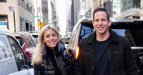 Tarek El Moussa and Heather Rae Young are seen arriving at NBC Studios