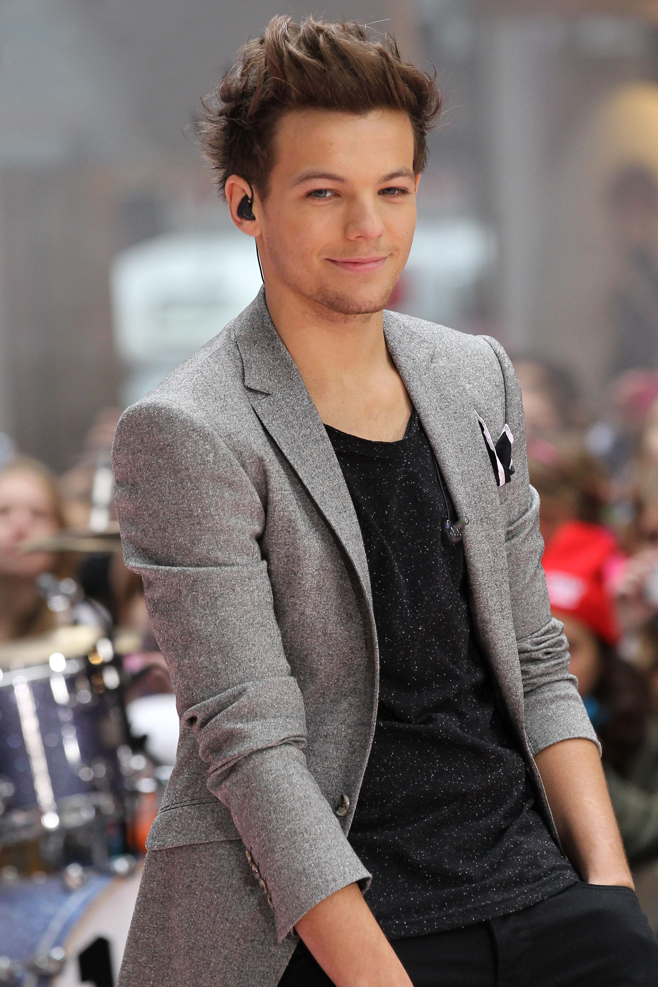 One Direction's Louis Tomlinson performs on NBC's 'The Today Show' in Rockefeller Plaza, NYC
