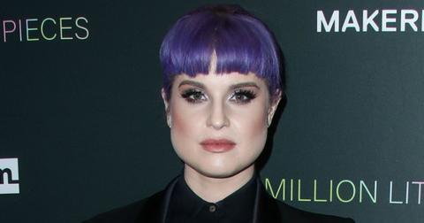 Kelly Osbourne Sporting a Purple Hair on Red Carpet