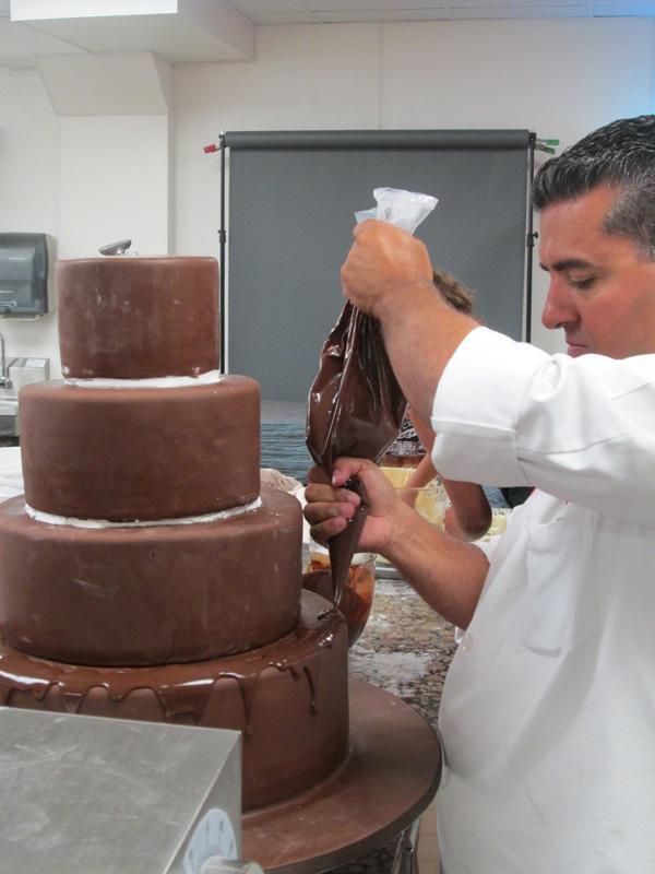 Cake Boss Buddy Decorating Cake