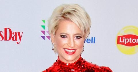 Dorinda Medley Wearing a Red Dress