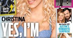 OK! Cover Story - Christina Aguilera Pregnant