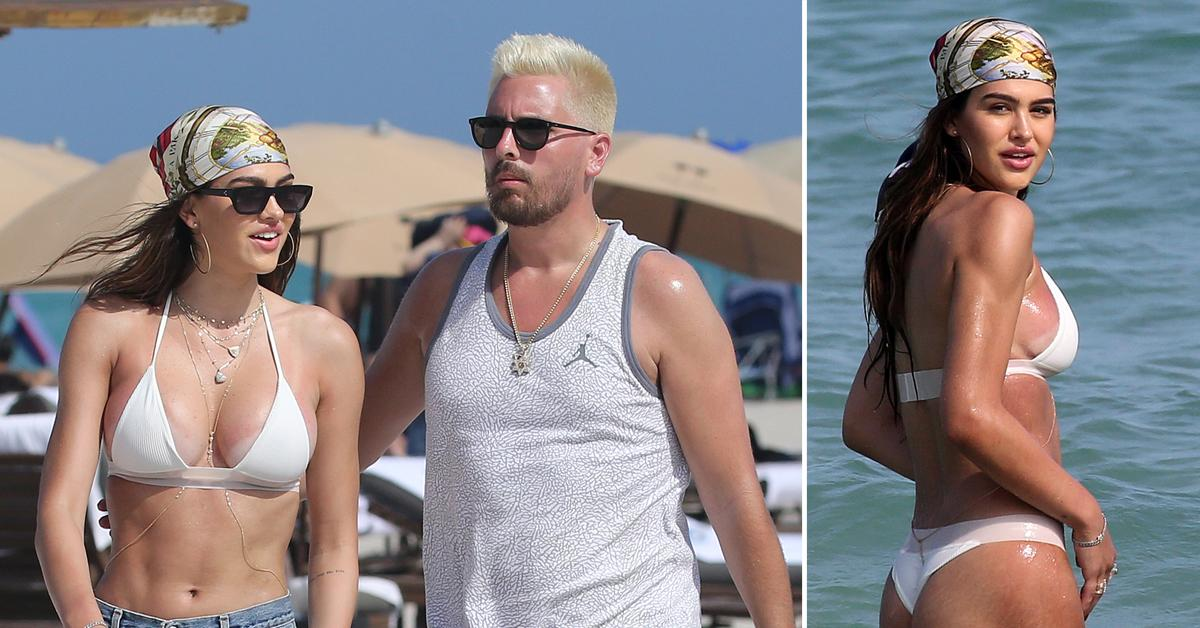 Scott Disick & Amelia Hamlin Cozy Up Together On Steamy Valentine's Day Beach Retreat After Going Instagram Official: Photos
