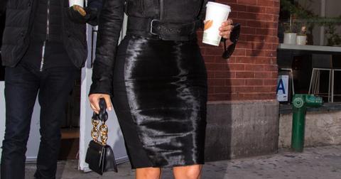 Kim Kardashian and Jonathan Cheban leaving the A B C Kitchen restaurant in NYC