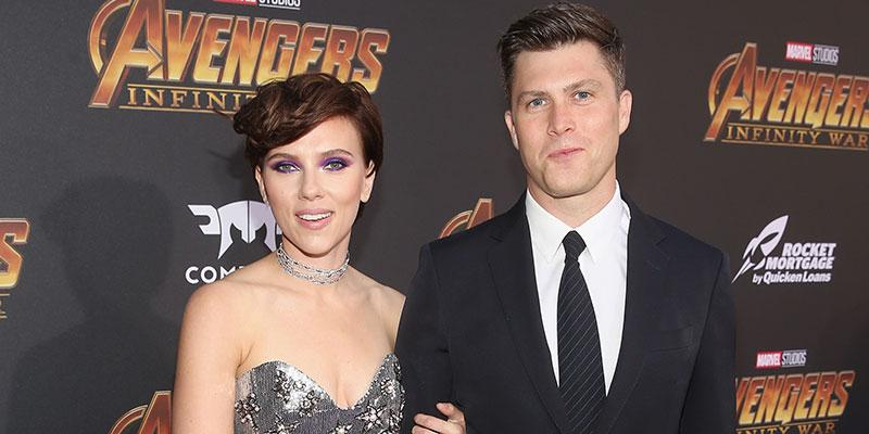 Scarlett johansson colin jost red carpet debut main