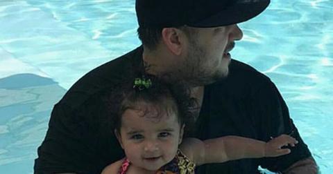 Rob kardashian daughter calls dada sweet video hero