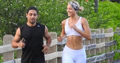 Wilmer Valderamma And Girlfriend Amanda Pacheco Jogging