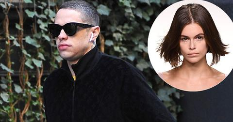 Pete Davidson Walks On Street Spotted Leaving Kaia Gerber's Apartment Building NYC