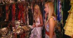 Paris Hilton shows Fearne Cotton around her vast closet.