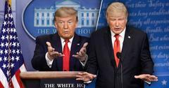 Donal Trum, Left, Alec Baldwin as Donald Tump, Right