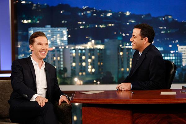 Benedict Cumberbatch with Jimmy Kimmel