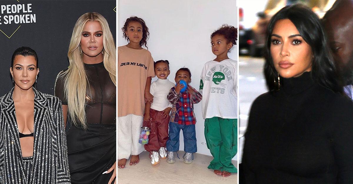 Kourtney & Khloé Kardashian Urge Kim To 'Petition For Full Custody' As Kanye West Divorce Looms