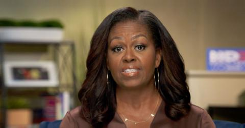 Michelle Obama Wearing VOTE necklace at 2020 DNC