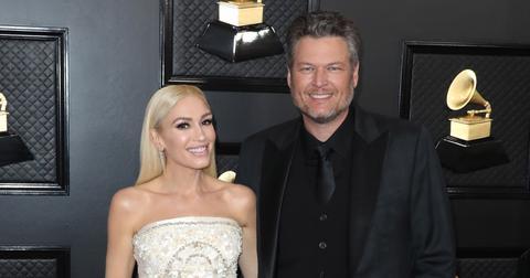 Gwen Stefani and Blake Shelton at the 62nd Annual GRAMMY Awards