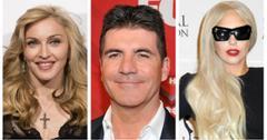 Madonna Simon Cowell Lady Gaga