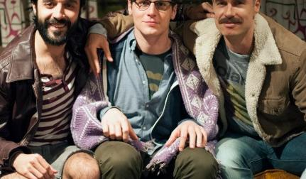 Jonathan Groff and cast of Looking on HBO