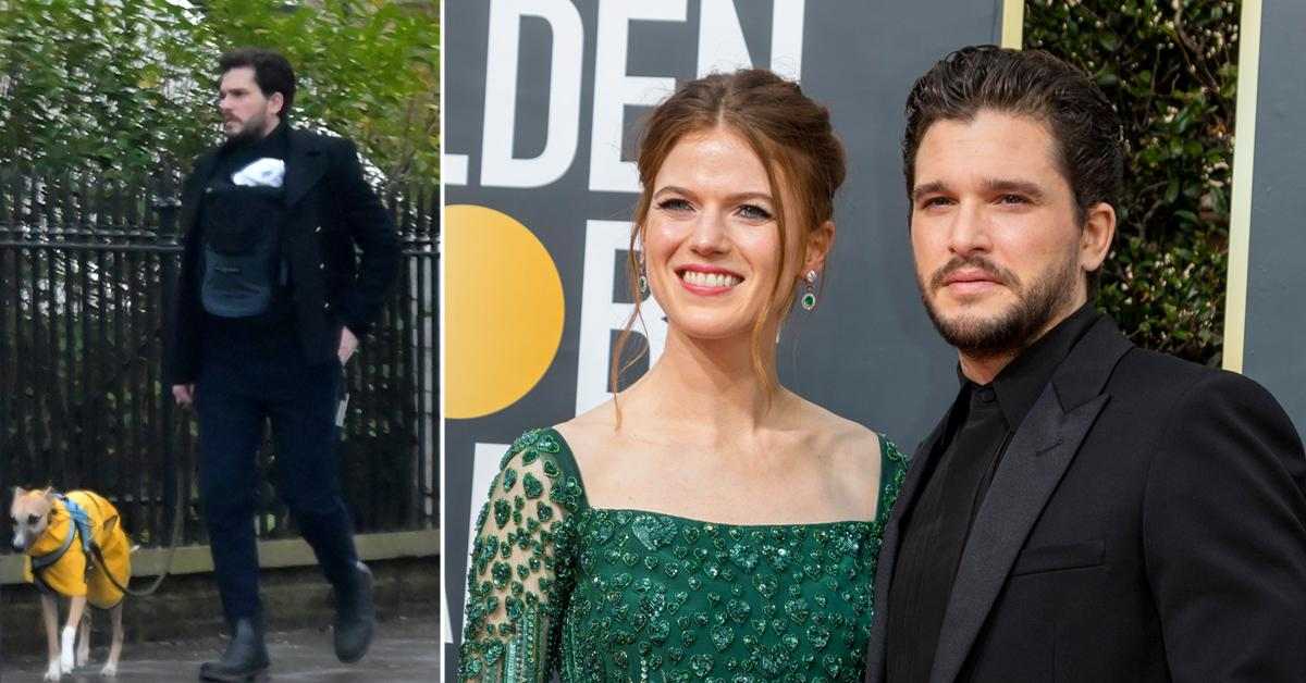 Doting Dad! 'Games Of Thrones' Star Kit Harington Takes Newborn Son Out For A Stroll In London: Photos