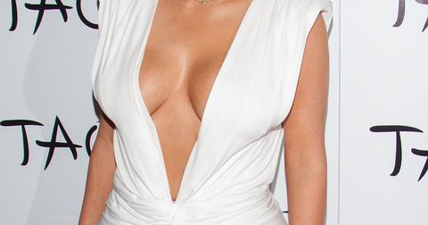 Kim Kardashian celebrates her 34th birthday at TAO Nightclub in Las Vegas