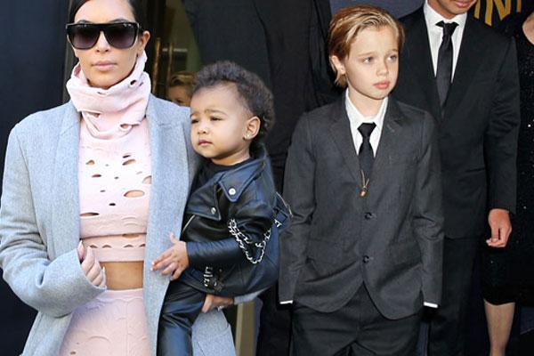 Kim kardashian north west shiloh jolie pitt