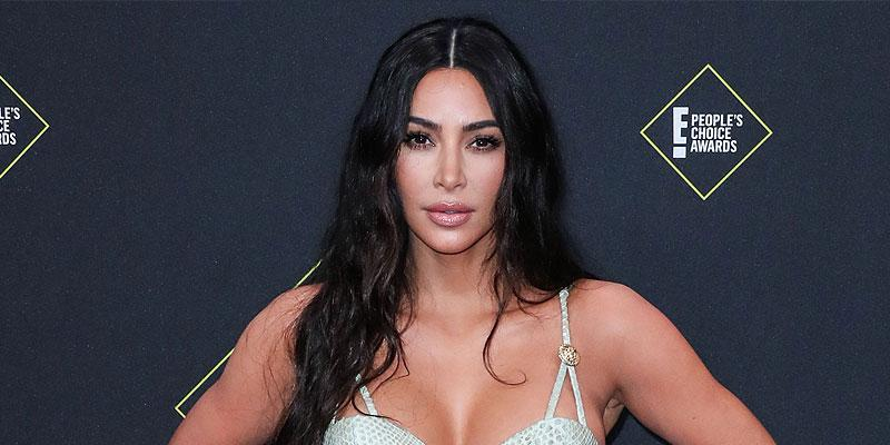 Kim Kardashian Wearing a snake Dress Kim Kardashian Reposts Her Voting Selfie, Inside Theories As To Why