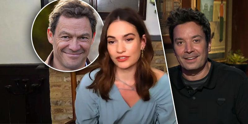 Jimmy Fallon Completely Ignores Lily James' PDA Scandal On 'The Tonight Show'