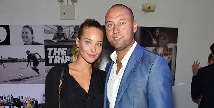 Hannah jeter pregnant derek jeter first time father hollywood babies=hq