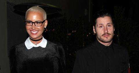 Amber Rose and boyfriend Valentin Chmerkovskiy are spotted leaving 'Delilah' club in West Hollywood