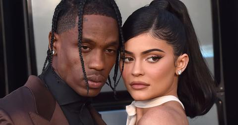 Travis Scott Kylie Jenner Red Carpet Denies Cheating Kylie Jenner