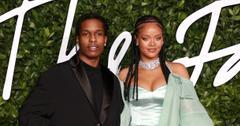 A$AP Rocky and Rihanna at the Fashion Awards 2019