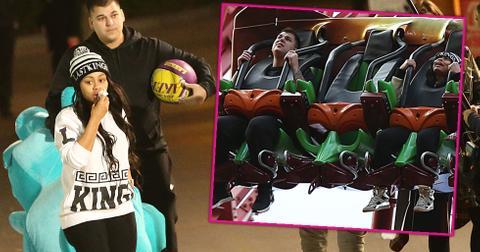 rob kardashian blac chyna first date at six flags