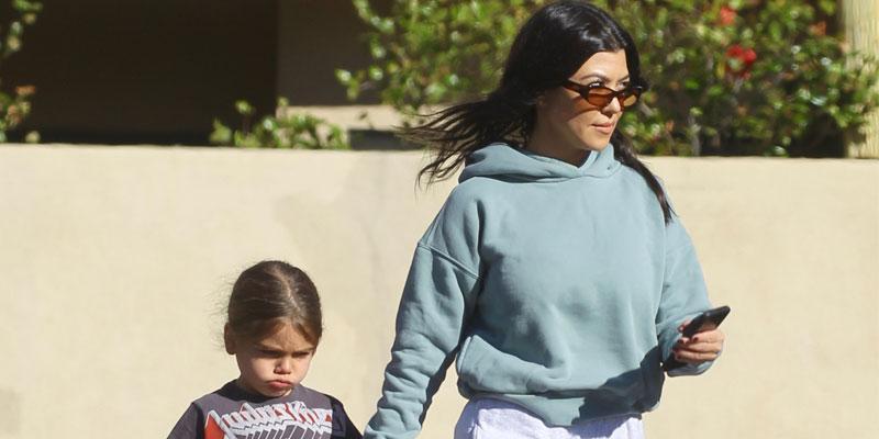 Kourtney Kardashian Takes Her Son Reign To Color Me Mine Painting Studio
