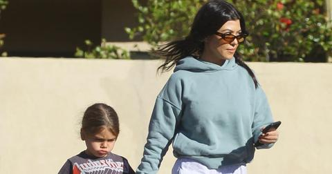 Kourtney Kardashian Takes Her Son Reign To Color Me Mine Painting Studio