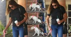 Caitlyn Jenner Kicks Dog