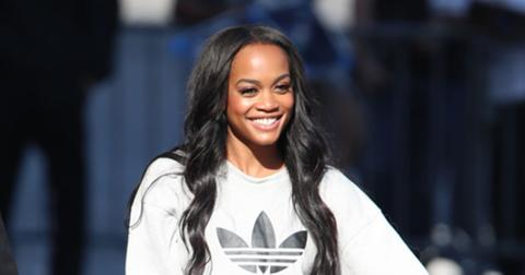 New Bachelorette Rachel Lindsay arrives to Jimmy Kimmel Live