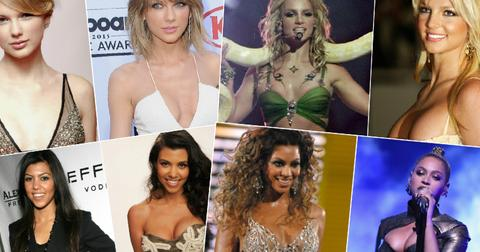celebrities with fake boobs