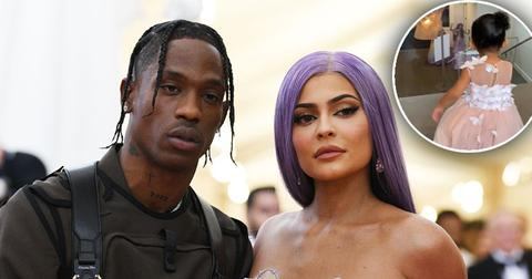 Kylie Jenner & Travis Scott Reunite For Stormi's Makeup Launch Party