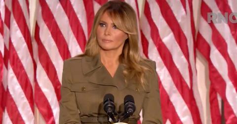 Melania Trump speaking