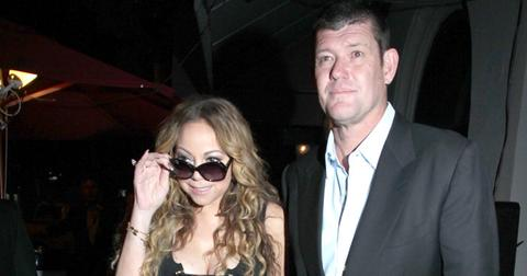 """Mariah Carey & her fiance, James Packer are all smiles as they are seen leaving the """"Nice Guy"""" club in Hollywood, CA."""