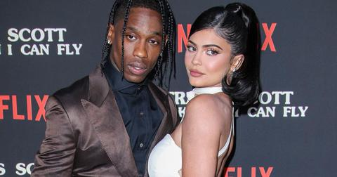 kylie jenner travis scott netflix red carpet