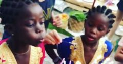 Madonna twins birthday party pics video