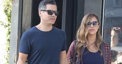 Pregnant Jessica Alba shows off her bump as she shops with husband Cash Warren