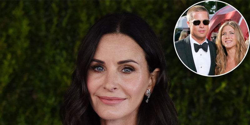 Courteney Cox 'Likes' Photo That Hints At Jennifer Aniston & Brad Pitt Reunion